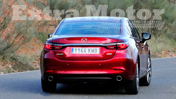 Prueba Mazda6 2018, trasera curva