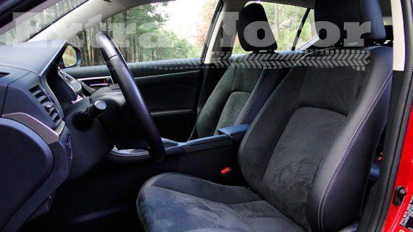 Prueba Lexus CT 200h, plazas delanteras