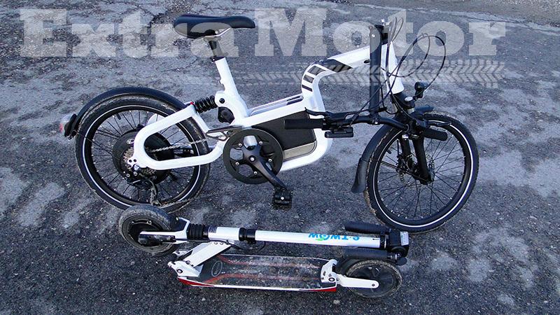 Patinete eléctrico vs. bici eléctrica, plegados