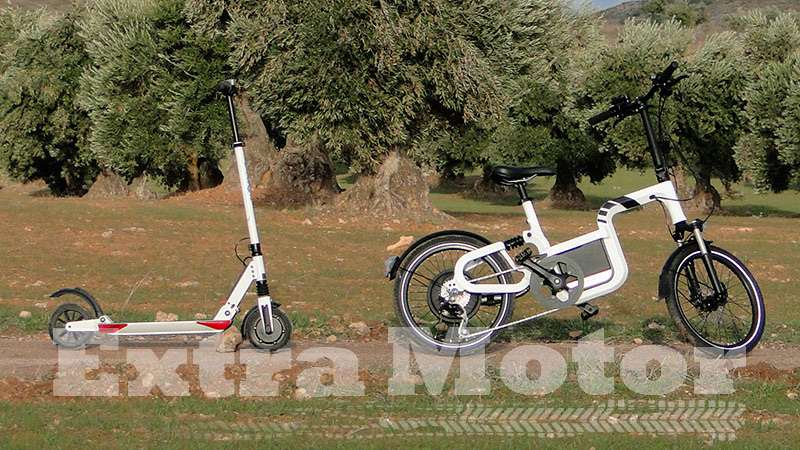 Patinete eléctrico vs. bici eléctrica, lateral