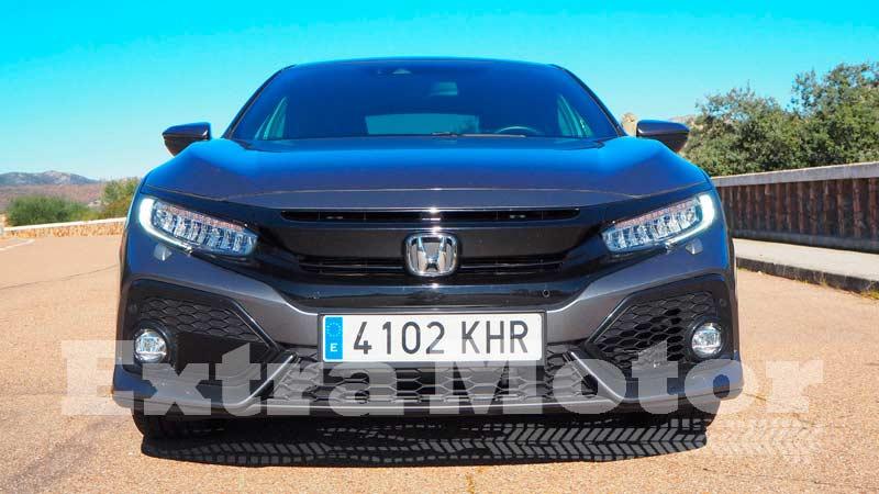 Prueba Honda Civic diésel, frontal