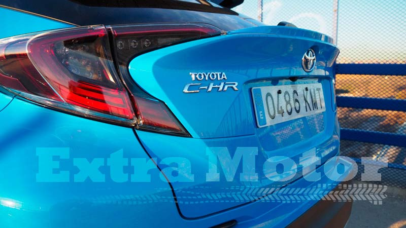 Prueba Toyota C-HR, detalle grupos ópticos traseros