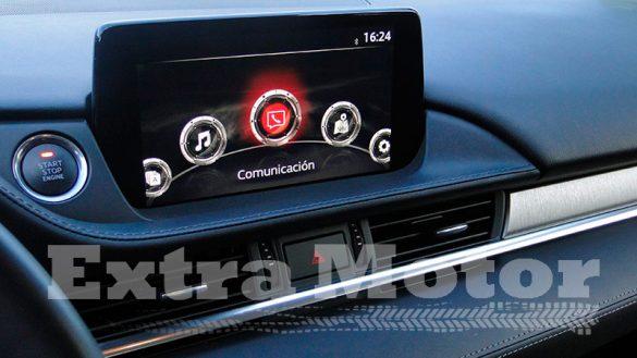 Prueba Mazda6 2018, detalle pantalla