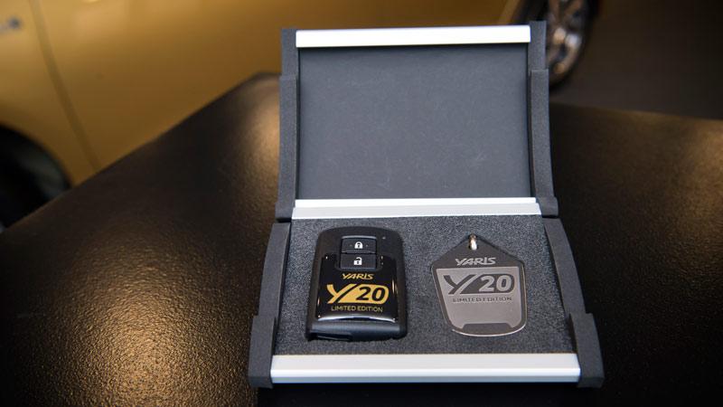 Toyota Yaris 20 Aniversario Limited Edition, llave